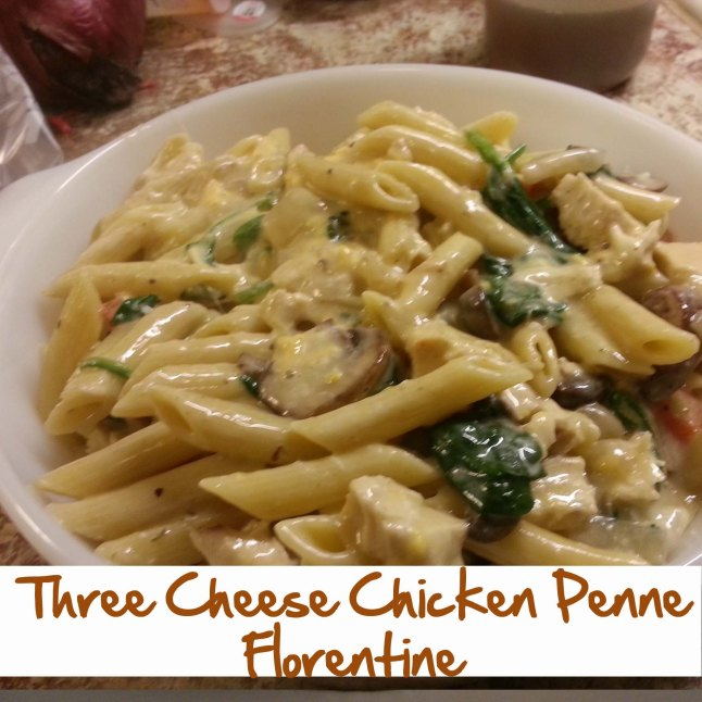 Three Cheese Chicken Penne Florentine