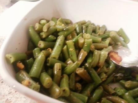 orange scented green beans