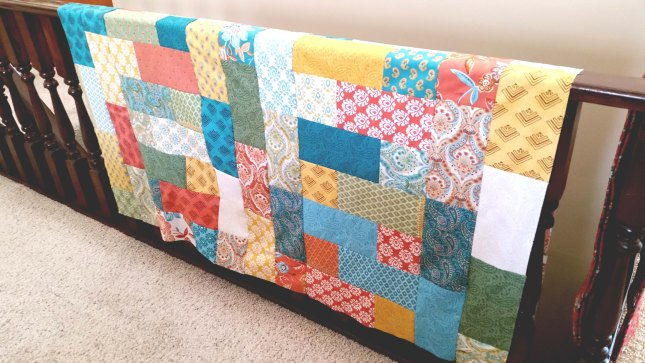 meandering path prayer flag quilt