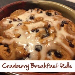 Cranberry Breakfast Rolls
