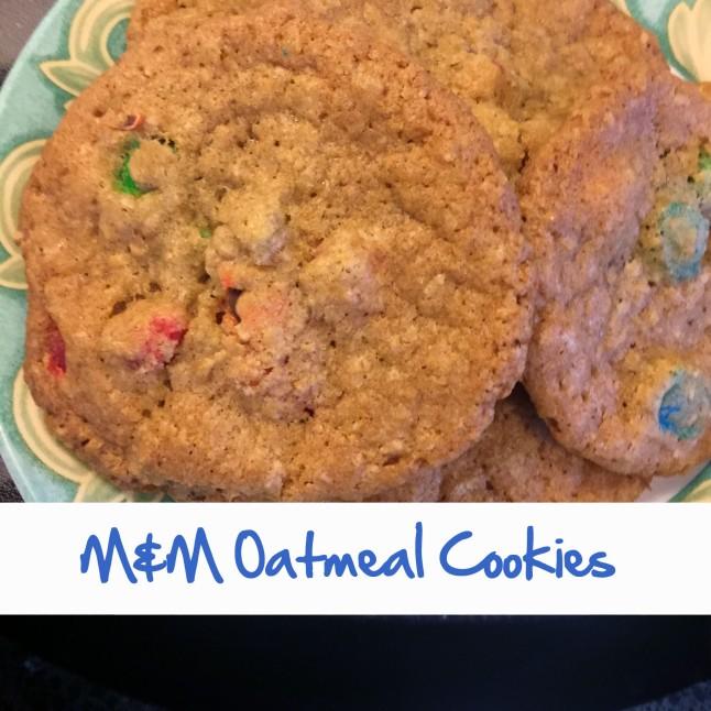 MandM Oatmeal Cookies