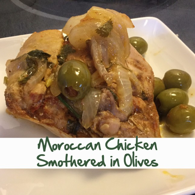 Moroccan Chicken Smothered in Olives