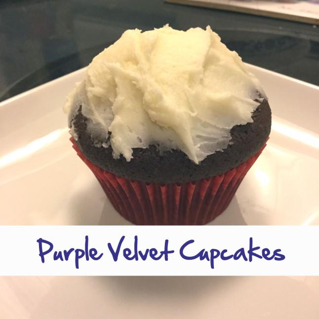 Purple Velvet Cupcakes