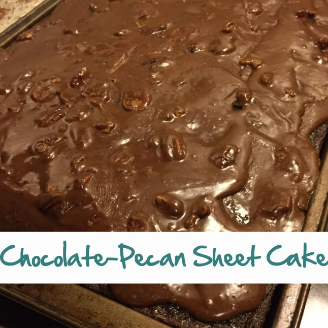 chocolate-pecan sheet cake