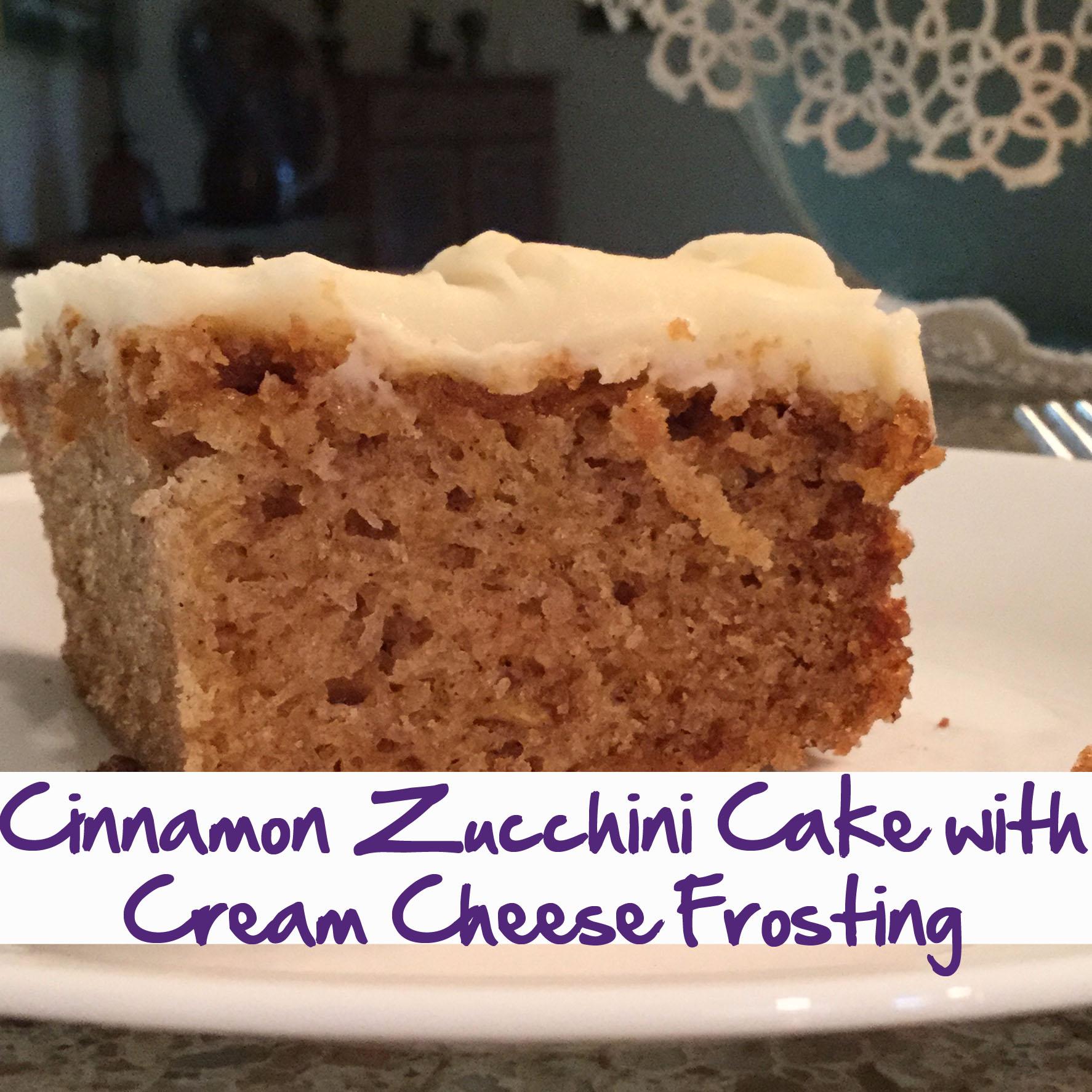 Cinnamon Cake Cream Cheese
