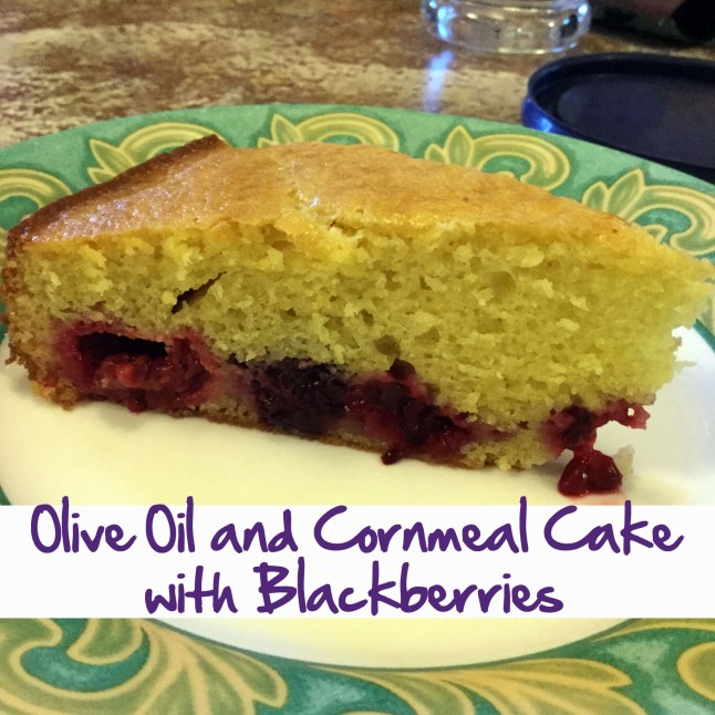 Olive Oil and Cornmeal Cake with Blackberries