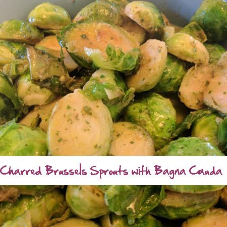 Charred Brussels Sprouts with Bagna Cauda