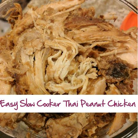 Easy Slow Cooker Thai Peanut Chicken