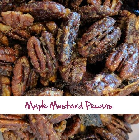 Maple Mustard Pecans
