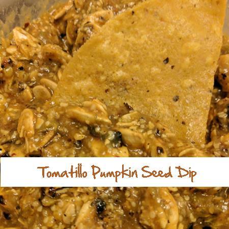 Tomatillo Pumpkin Seed Dip