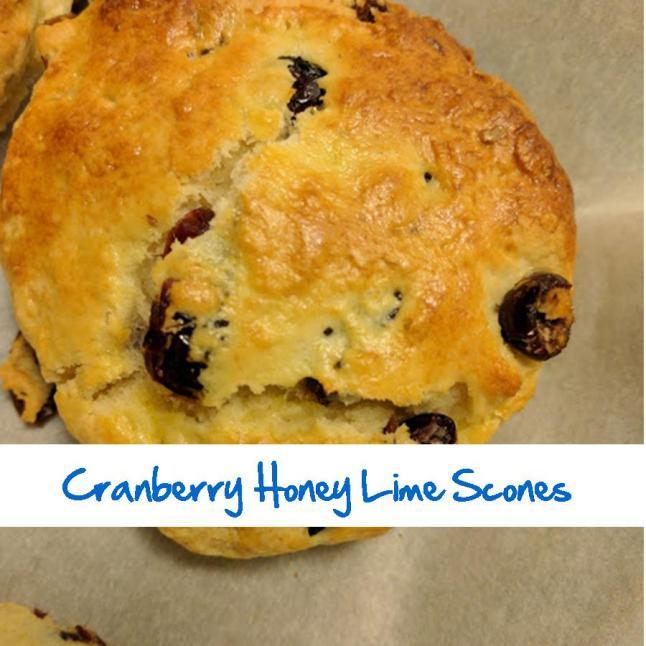 Cranberry Honey Lime Scones