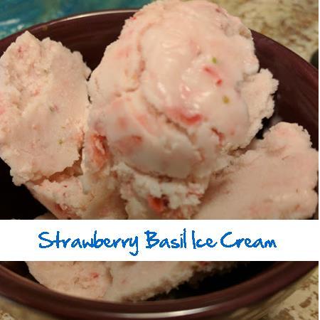 Strawberry Basil Ice Cream