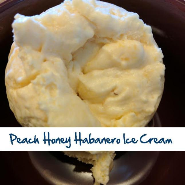 Peach Honey Habanero Ice Cream