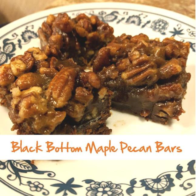 Black Bottom Maple Pecan Bars