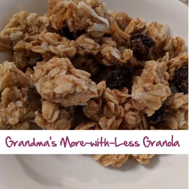 Grandma's More-with-Less Granola