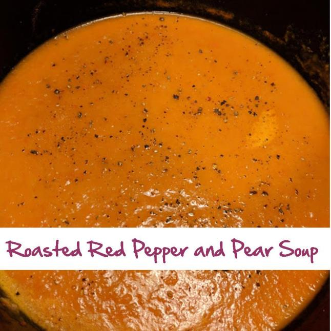 Roasted Red Pepper and Pear Soup