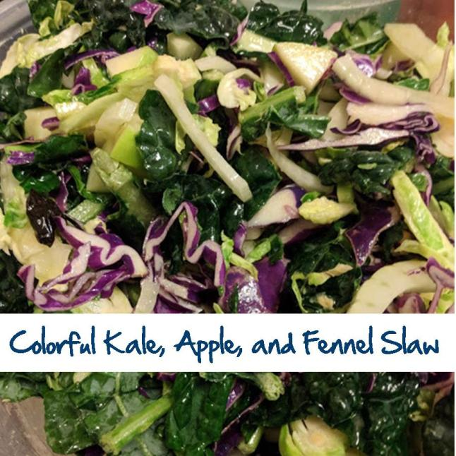Colorful Kale, Apple, and Fennel Slaw