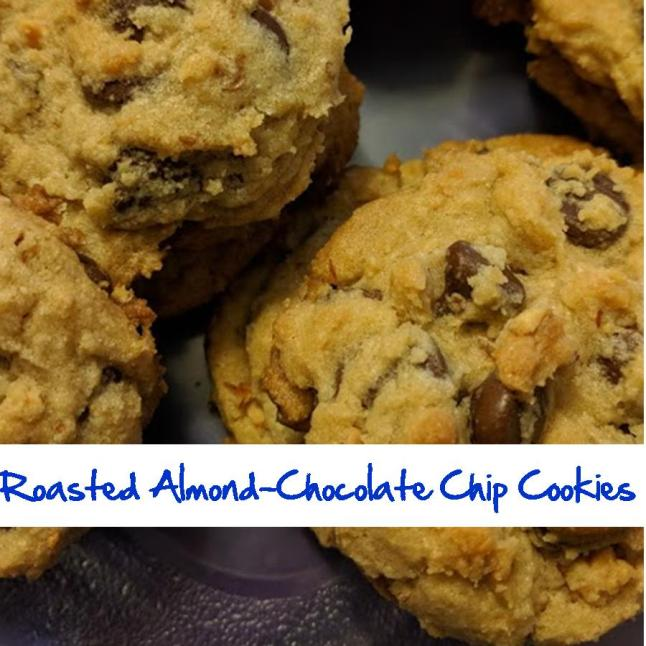 Roasted Almond-Chocolate Chip Cookies